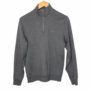 Vineyard Vines 1/4 Zip Knit Pullover Gray Size XS